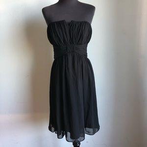White house black market sz 8 strapless dress